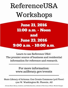 Reference USA June 2016 Flyer