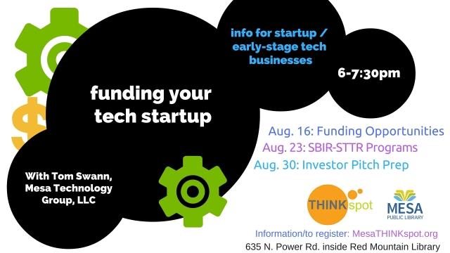 Funding High Tech Startup 8-30-16