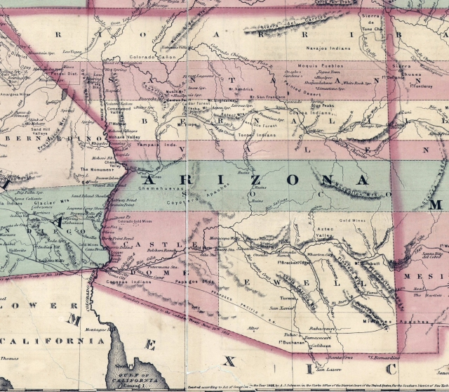 Johnson's California with Arizona, 1864