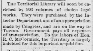 Territorial library blurb