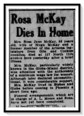 Rosa McKay Obituary