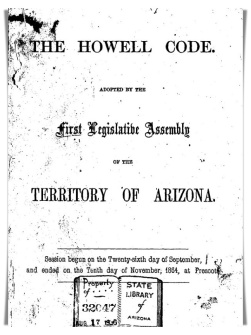 When the Arizona Revised Statutes Became a Thing – The