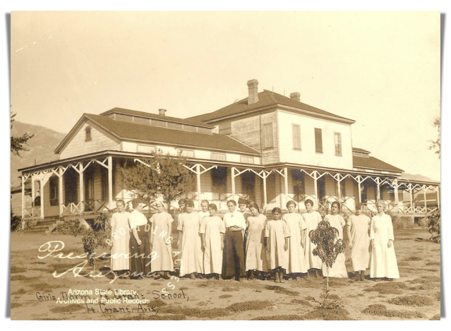 Image of female students at Fort Grant School