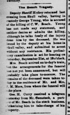 Beach Tragedy Miner 9-25-1889